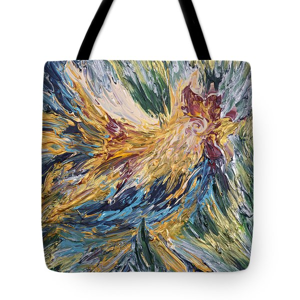 Abstract Guam Rooster Tote Bag