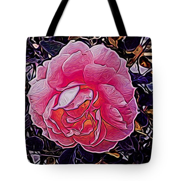 Abstract Rose 11 Tote Bag