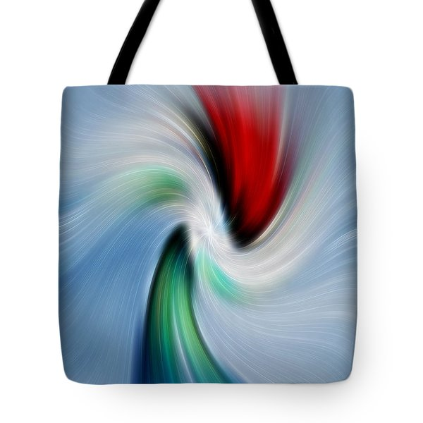 Abstract Rose In A Vase Tote Bag