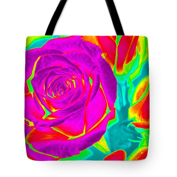 Blooming Roses Abstract Tote Bag