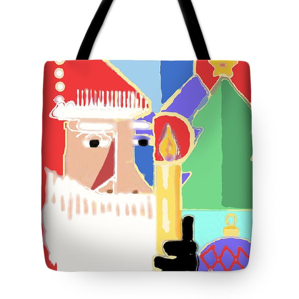 Abstract Santa Tote Bag by Arline Wagner