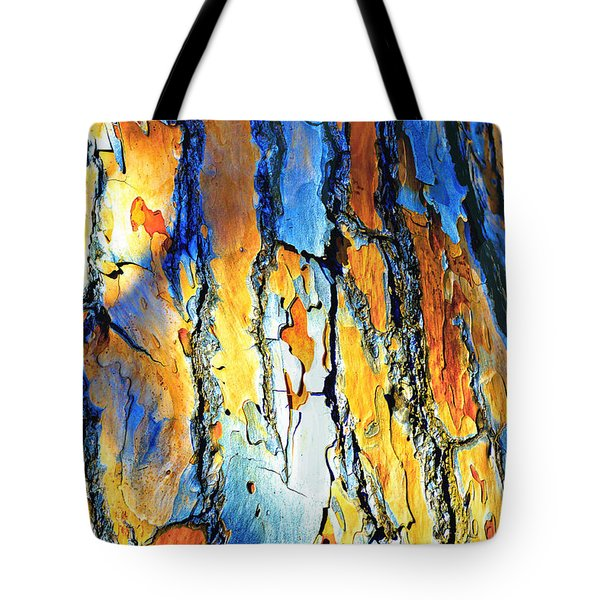 Abstract Saturated Tree Bark Tote Bag