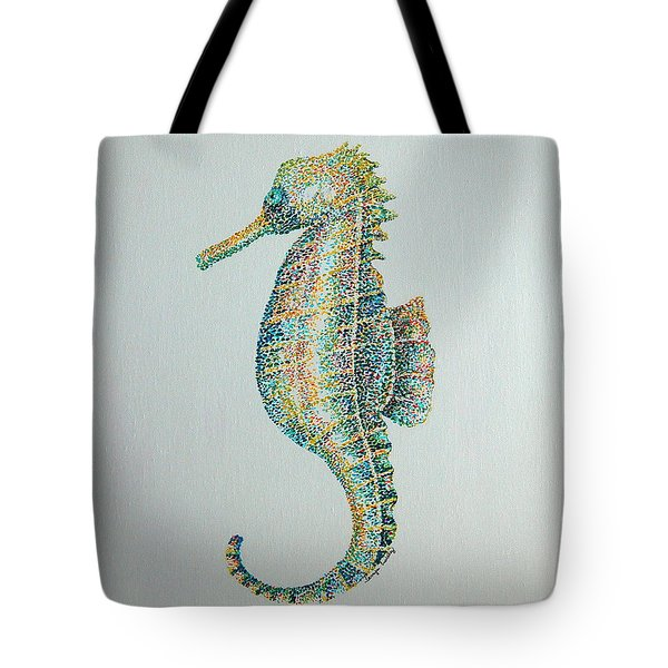 Abstract Seahorse Tote Bag