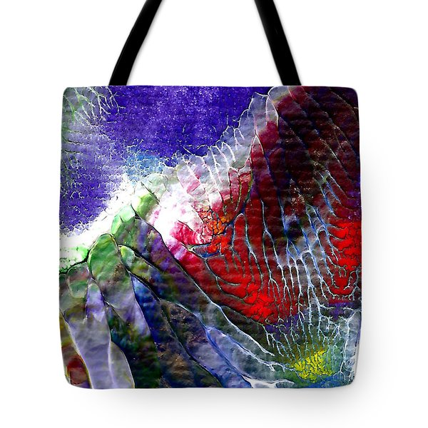 Tote Bag featuring the painting Abstract Series 0615a-3 by Mas Art Studio