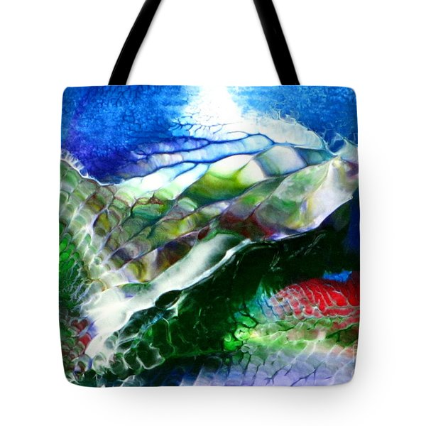 Tote Bag featuring the painting Abstract Series B by Mas Art Studio