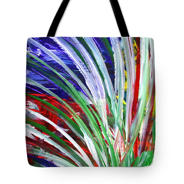 Tote Bag featuring the painting Abstract Series C1015bp by Mas Art Studio