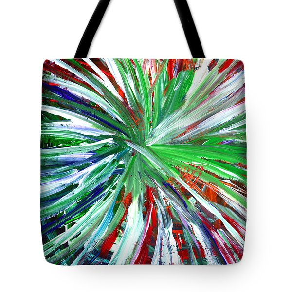 Tote Bag featuring the painting Abstract Series C1015dp by Mas Art Studio