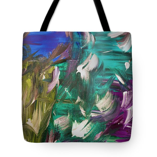 Tote Bag featuring the painting Abstract Series E1015bl by Mas Art Studio