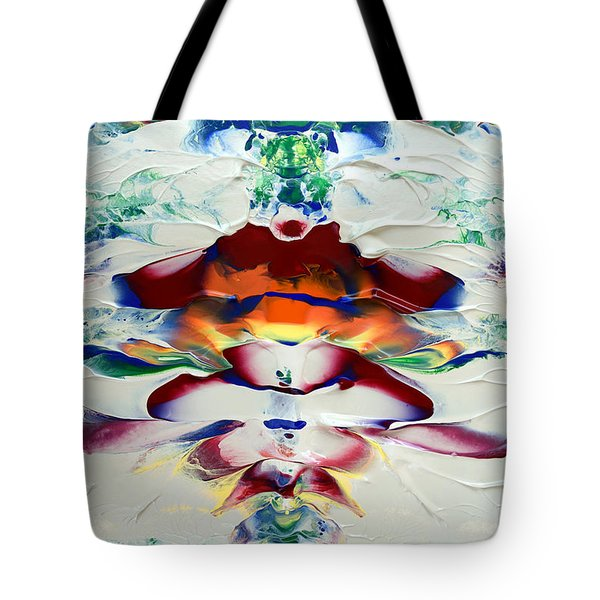 Tote Bag featuring the painting Abstract Series H1015a by Mas Art Studio