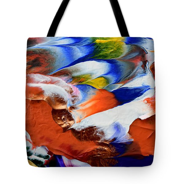 Tote Bag featuring the painting Abstract Series N1015al  by Mas Art Studio