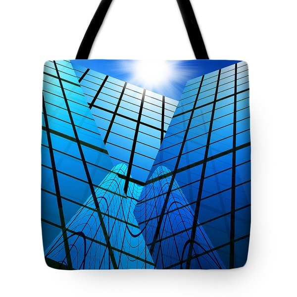 Abstract Skyscrapers Tote Bag