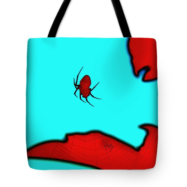 Abstract Spider Tote Bag by Linda Hollis