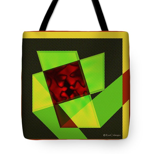 Tote Bag featuring the digital art Abstract Squares And Angles by Kae Cheatham