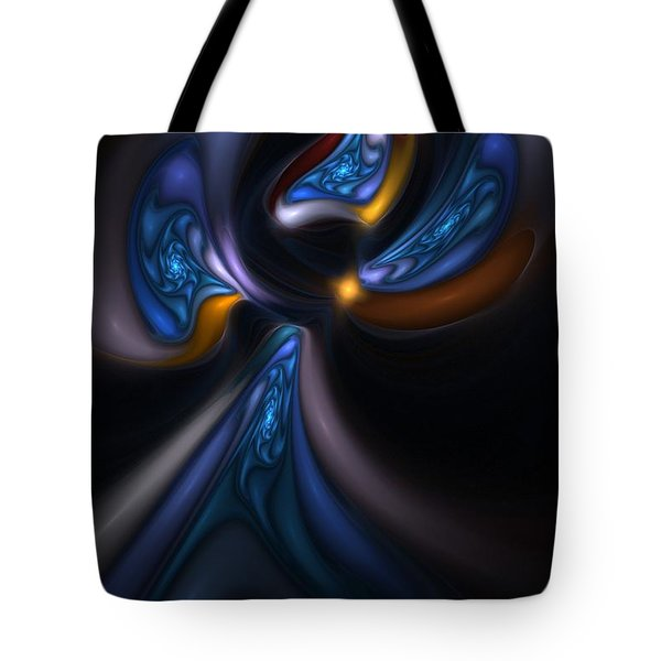 Abstract Stained Glass Angel Tote Bag