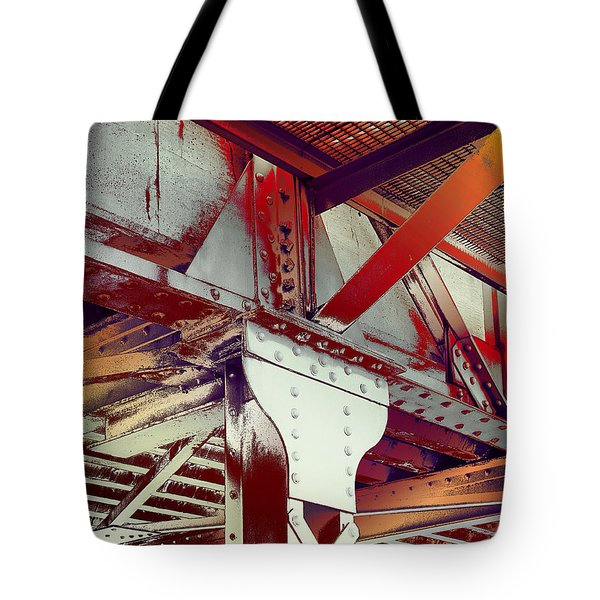 Tote Bag featuring the photograph Grunge Steel Beam by Robert G Kernodle