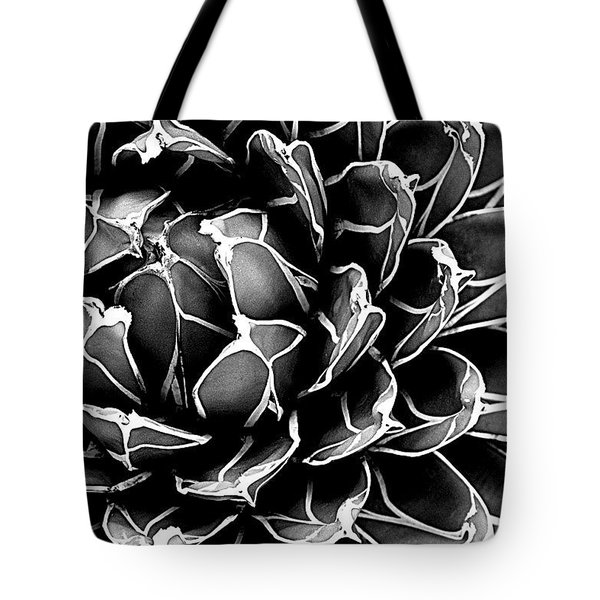 Tote Bag featuring the photograph Abstract Succulent by Ranjini Kandasamy