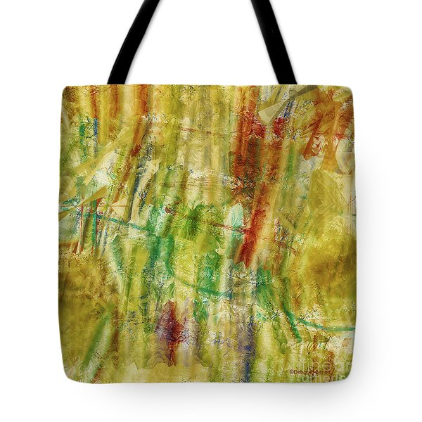 Tote Bag featuring the digital art Abstract Sunday by Deborah Benoit