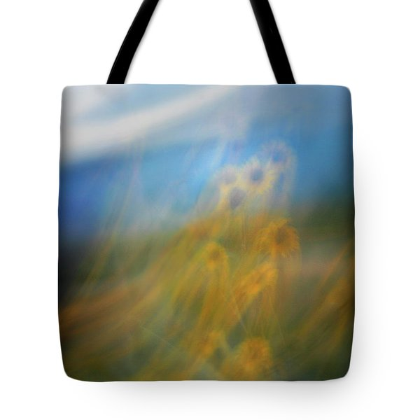 Tote Bag featuring the photograph Abstract Sunflowers by Marilyn Hunt