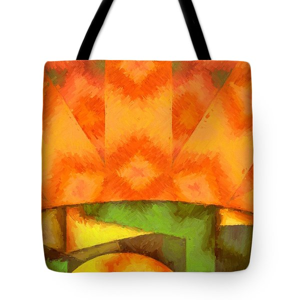 Abstract Sunrise Tote Bag
