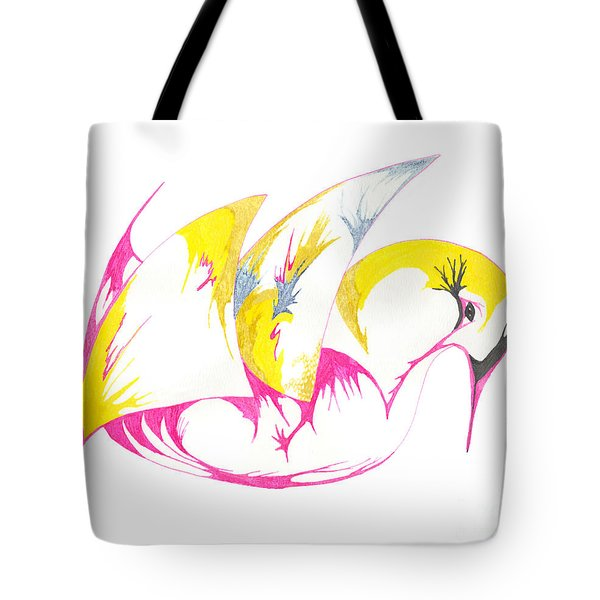 Abstract Swan Tote Bag