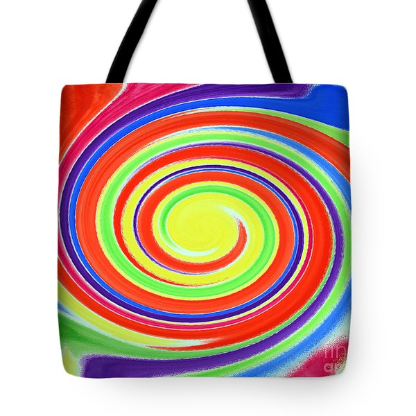 Tote Bag featuring the painting Abstract Swirl A1 1215 by Mas Art Studio