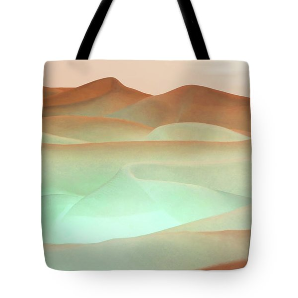 Abstract Terracotta Landscape Tote Bag by Deborah Smith