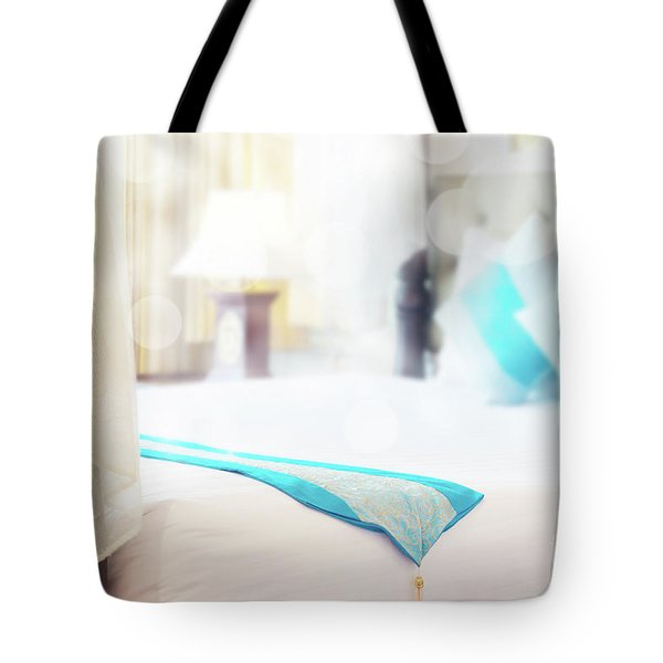 Tote Bag featuring the photograph Abstract Thai Style Bedroom by Atiketta Sangasaeng
