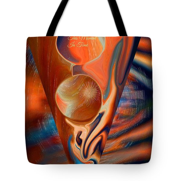 Abstract This Moment In Time Tote Bag