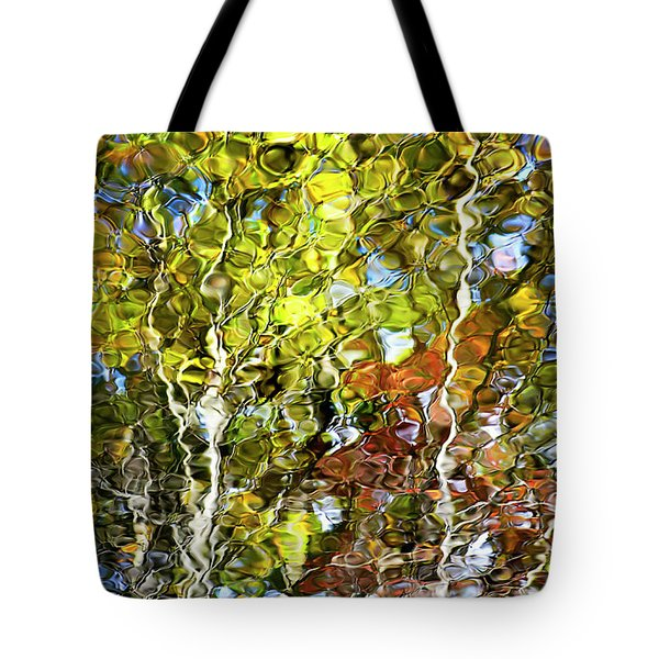 Abstract Tree Reflection Tote Bag by Christina Rollo