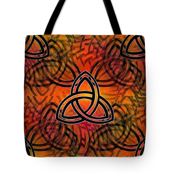 Tote Bag featuring the digital art Abstract - Trinity by Glenn McCarthy Art and Photography