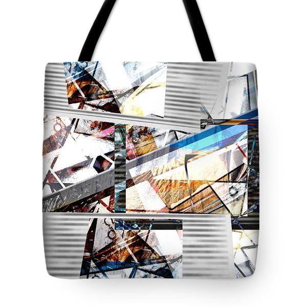 Tote Bag featuring the digital art Abstract Triptych by Art Di