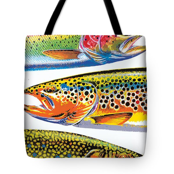 Abstract Trout Tote Bag