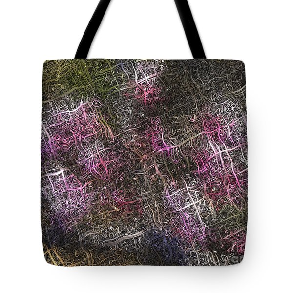 Abstract Tulip Tote Bag