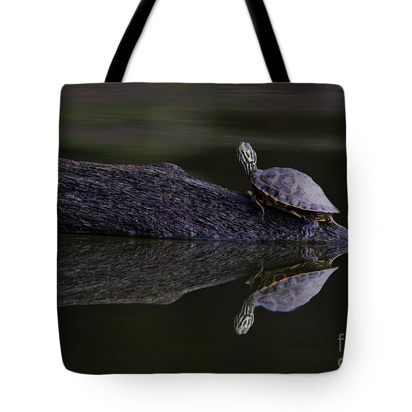Tote Bag featuring the photograph Abstract Turtle by Douglas Stucky