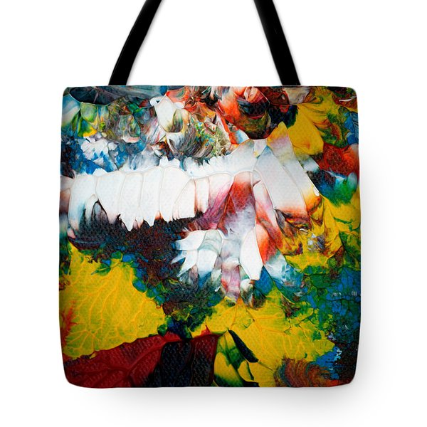 Tote Bag featuring the painting Abstract U1112a by Mas Art Studio