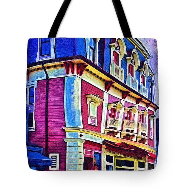 Tote Bag featuring the digital art Abstract Urban by Kirt Tisdale