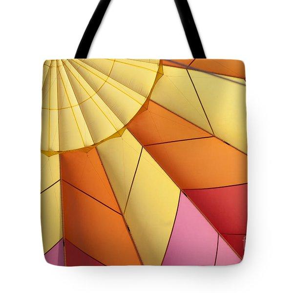 Abstract View Of Hot Air Balloon Tote Bag