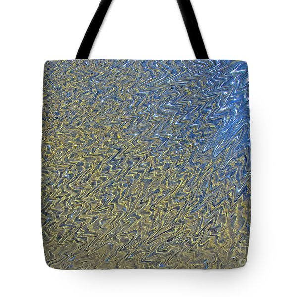 Abstract Water Blue Brown Tote Bag