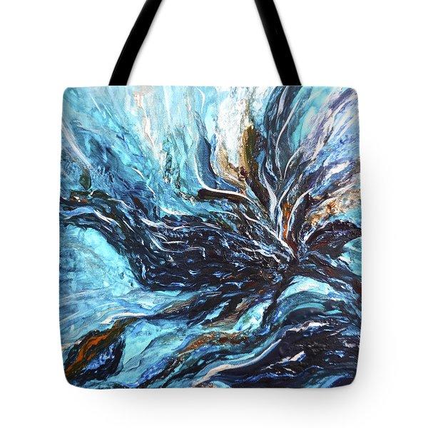 Abstract Water Dragon Tote Bag