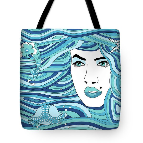 Abstract Water Element Tote Bag by Serena King