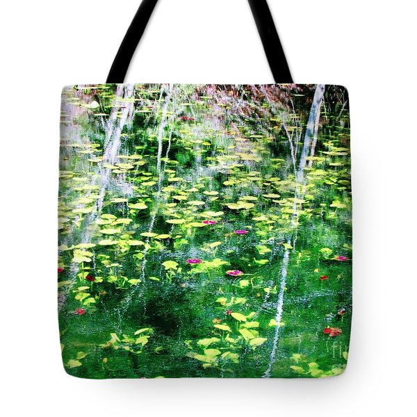 Tote Bag featuring the photograph Abstract Water by Melissa Stoudt
