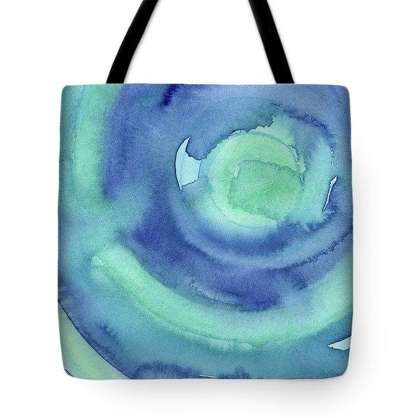 Abstract Watercolor Aqua Blues Tote Bag