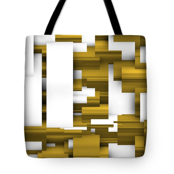 Abstract White And Gold. Tote Bag