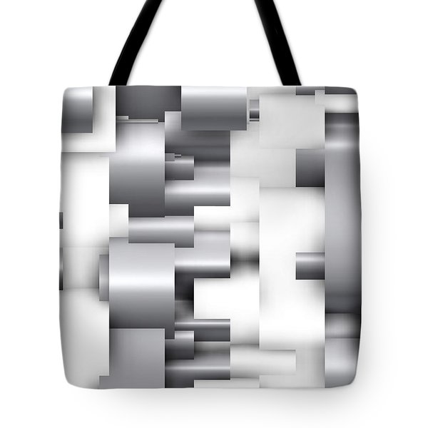 Abstract White And Grey Tote Bag