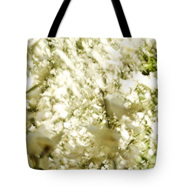 Abstract White Tote Bag by Ray Laskowitz - Printscapes