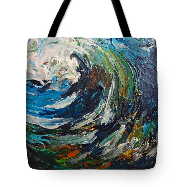 Abstract Wild Wave  Tote Bag