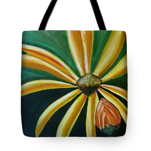 Abstract Yellow Sunflower Art Floral Painting Tote Bag