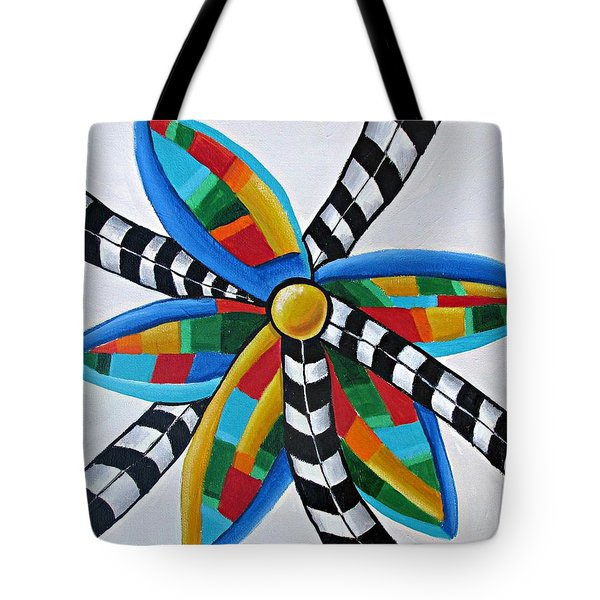 Abstract Windmill  Tote Bag