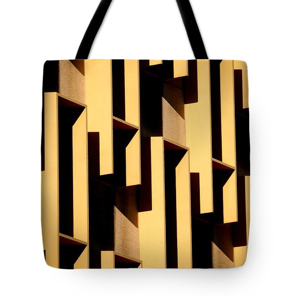 State Building Abstract Tote Bag