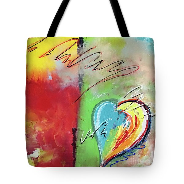 Abstract With Heart Tote Bag